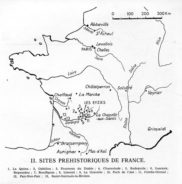 Principaux sites préhistoriques en France