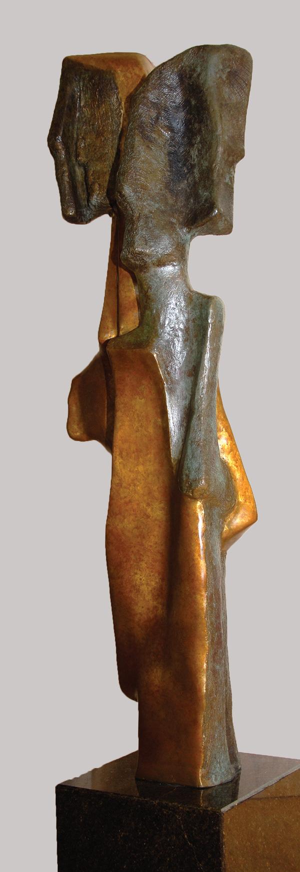 LES MIGRANTS, Bronze - 13 X 40 po. (33 X 102  cm)