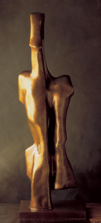 EXIL,  Bronze - 12 X 46 po. (30 X 117 cm)