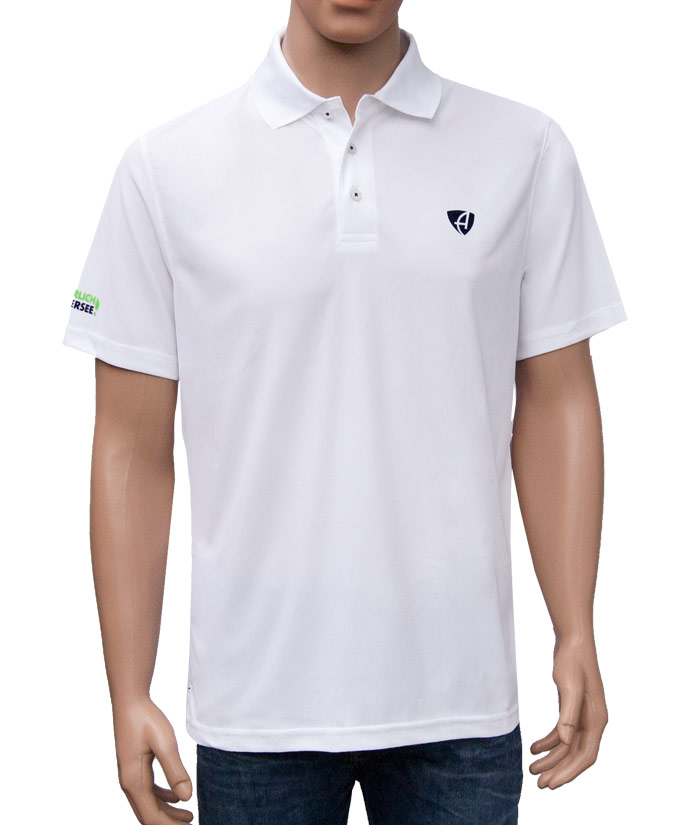 Polo-Shirt Gentle White | Front