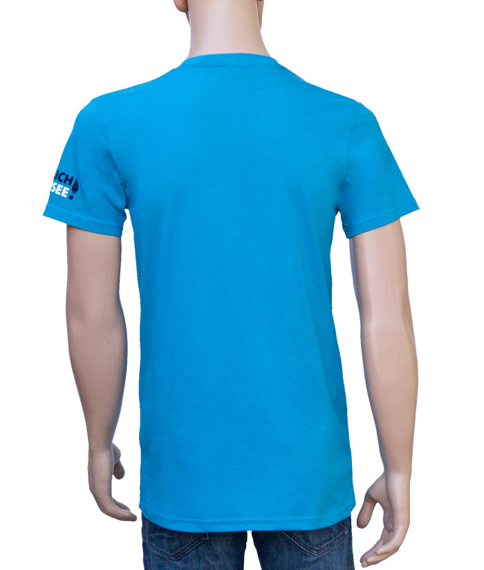 T-Shirt Brand Blue | Back