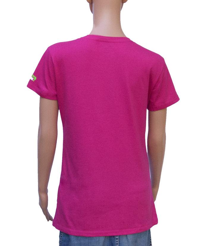T-Shirt Brand Pink | Back