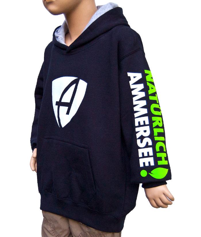 Kids Hoodie Brand Navy| Side