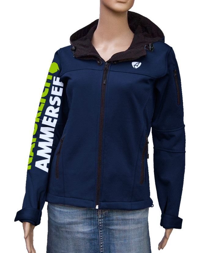 Damen Softshell Jacke Gentle Navy | Front