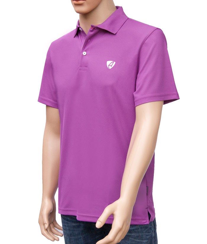 Polo-Shirt Gentle Flieder | Side