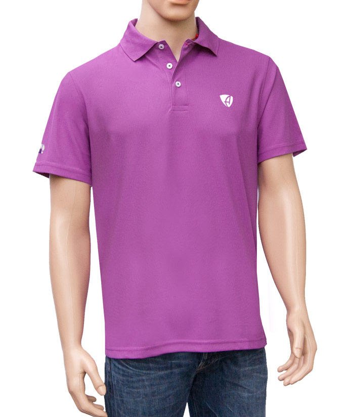 Polo-Shirt Gentle Flieder | Front