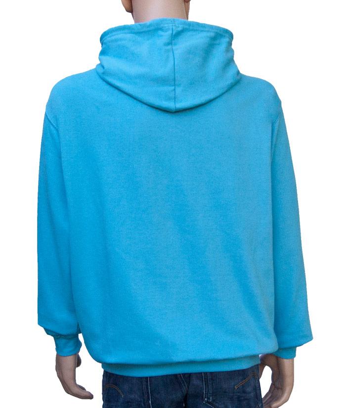 Hoodie Brand Aqua | Back
