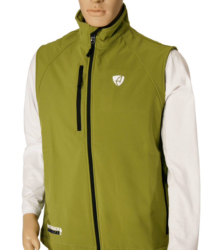 Softshell Weste Gentle Green | Front