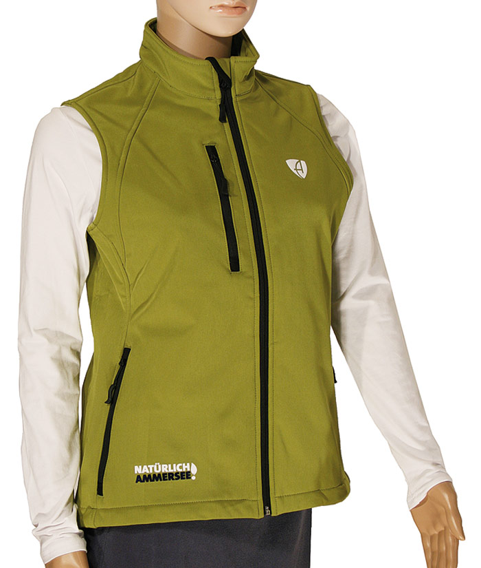 Softshell Weste Gentle Green| Front