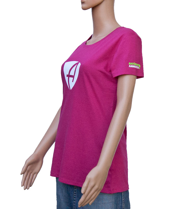 T-Shirt Brand Pink | Side