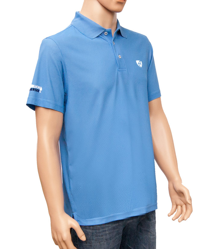 Polo-Shirt Gentle Blue | Side