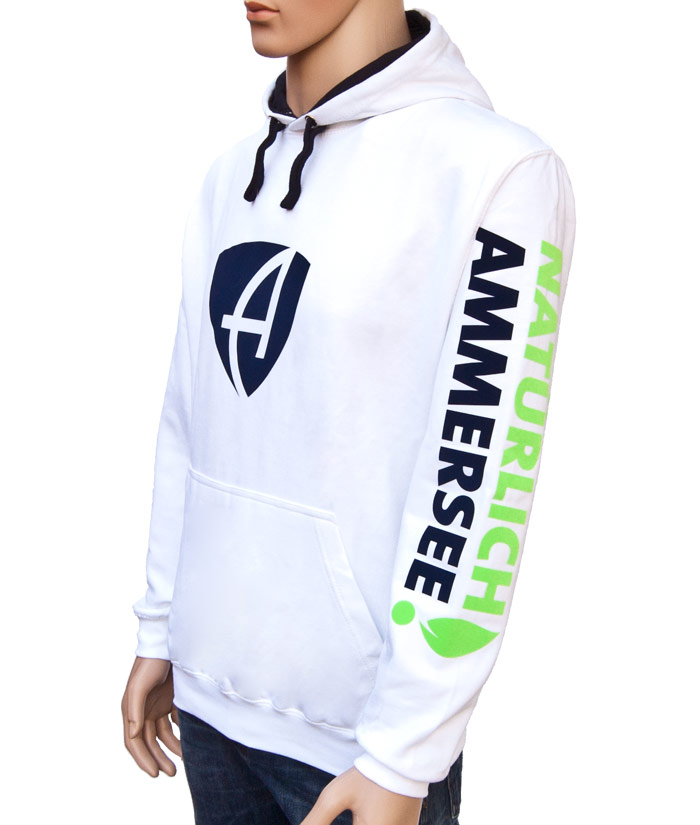 Hoodie Brand White | Side