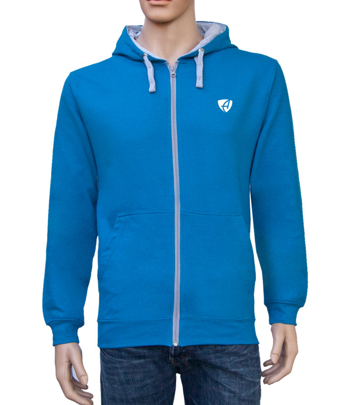 Zipper Hoodie Gentle Blue | Front
