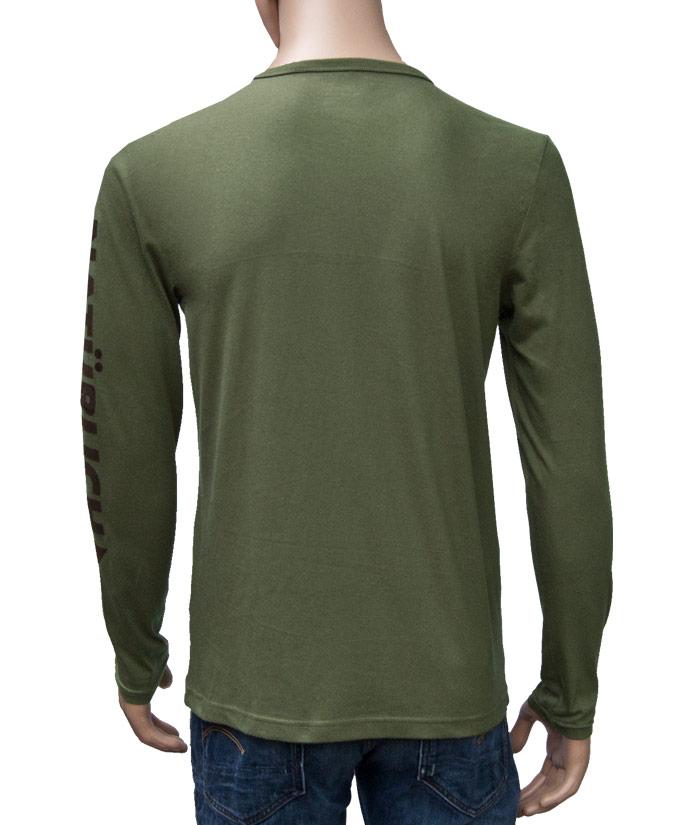 Longsleeve Brand Khaki | Back