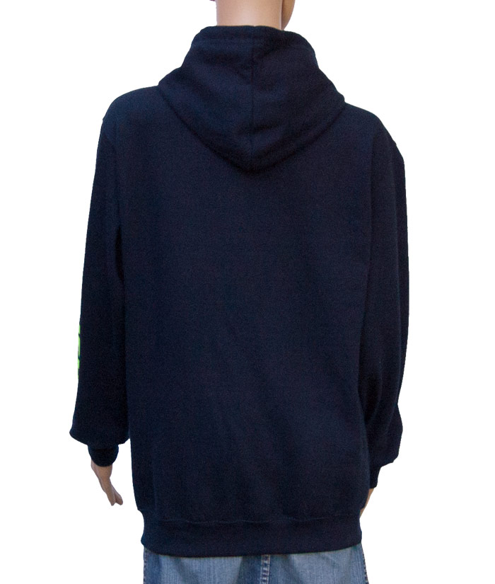 Zipper Hoodie Gentle Navy | Back