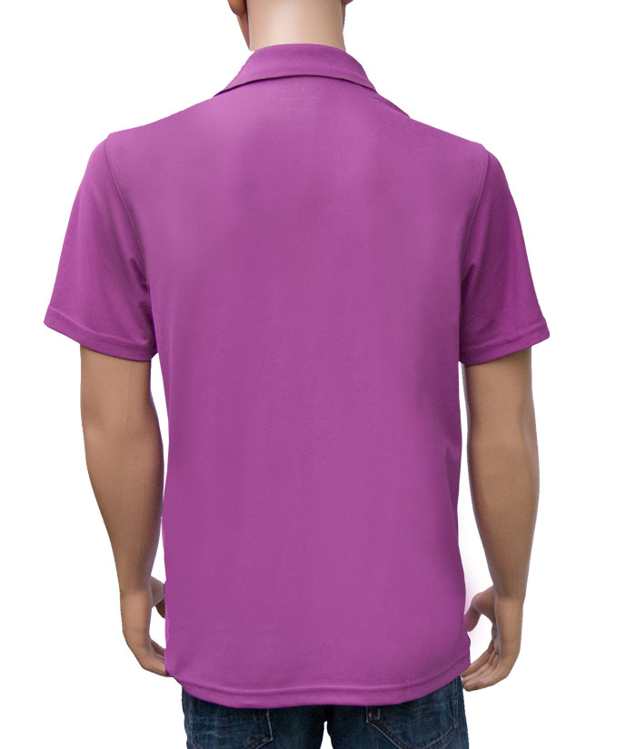 Polo-Shirt Gentle Flieder | Back