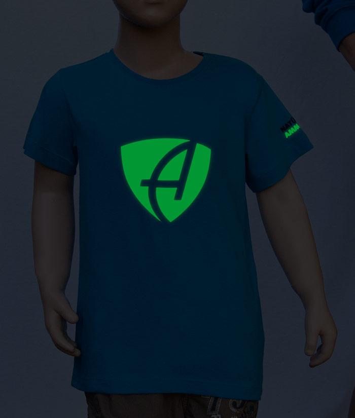 T-Shirt Brand Nightlight | Flourezierender Druck im Dunkeln