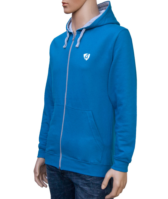 Zipper Hoodie Gentle Blue | Side