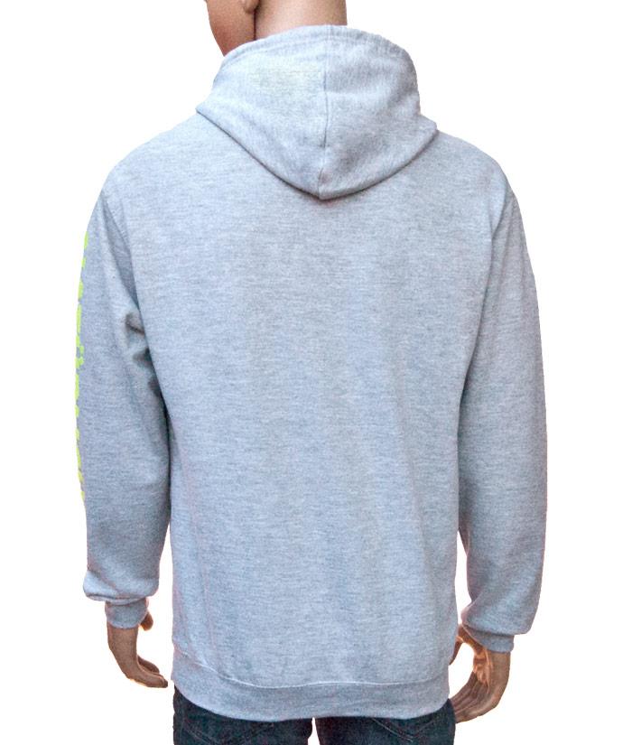Hoodie Brand Grey | Back