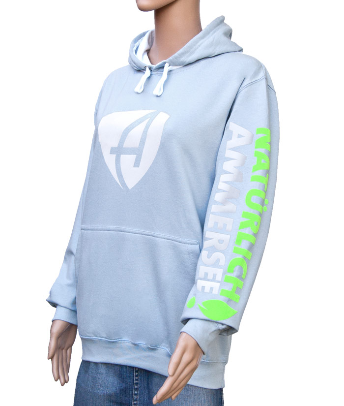 Hoodie Brand Iceblue | Side