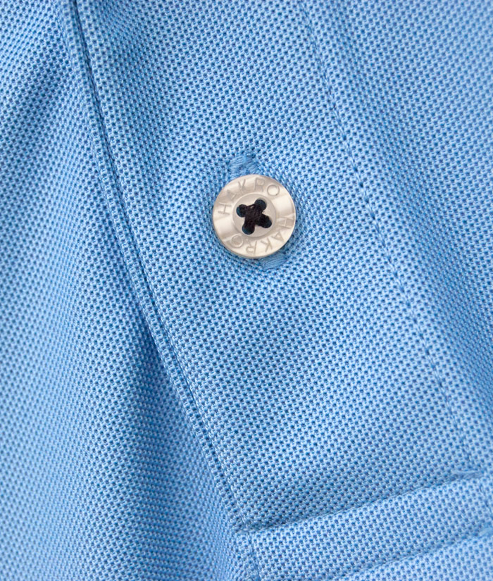 Polo-Shirt Gentle Blue | Detail