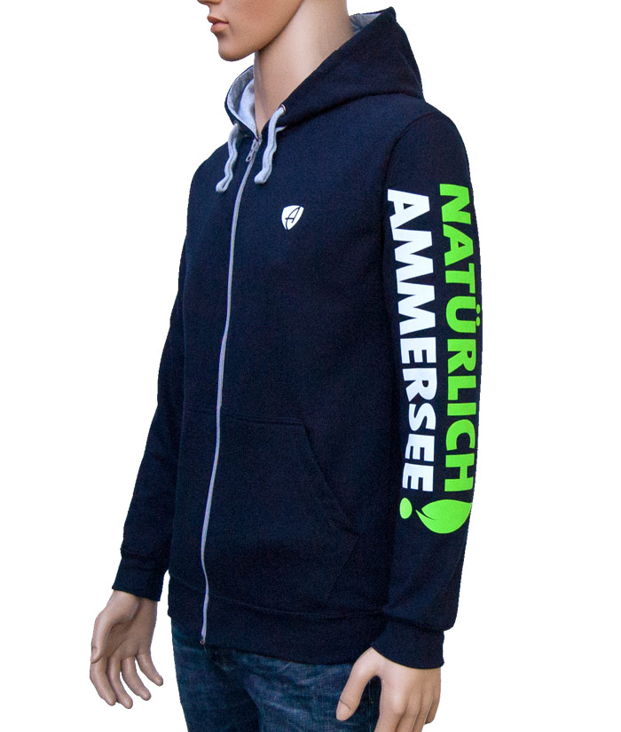 Zipper Hoodie Gentle Navy | Side