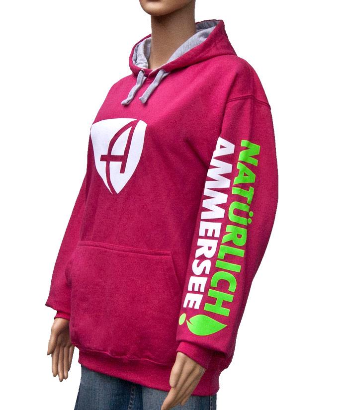 Hoodie Brand Pink | Side
