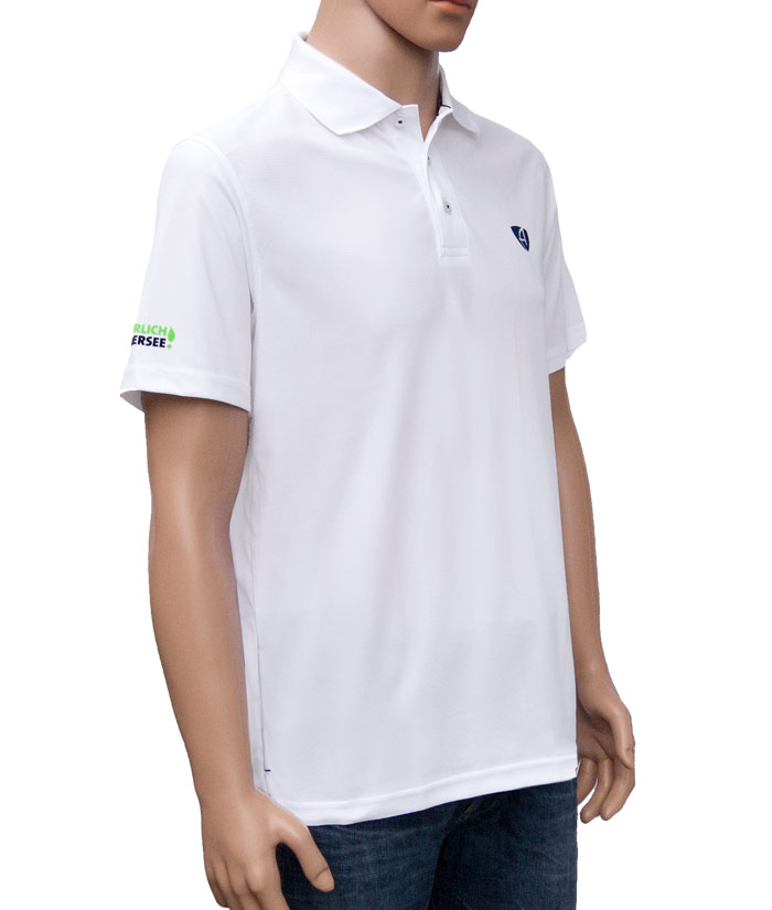 Polo-Shirt Gentle White | Side