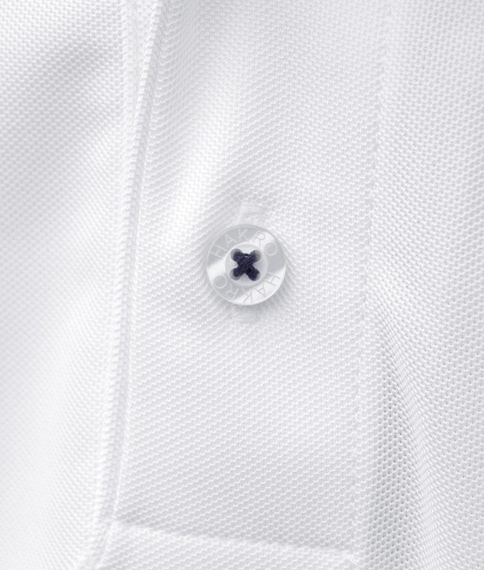 Polo-Shirt Gentle White | Detail