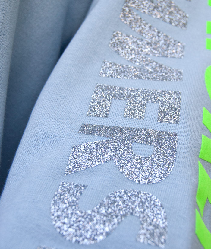 Hoodie Brand Glitter | Detail