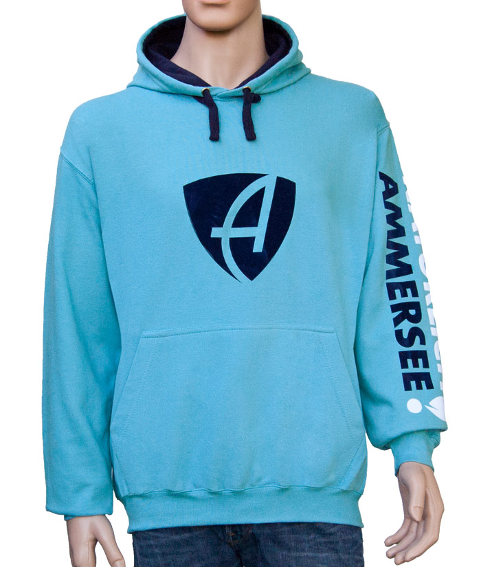 Hoodie Brand Aqua | Front
