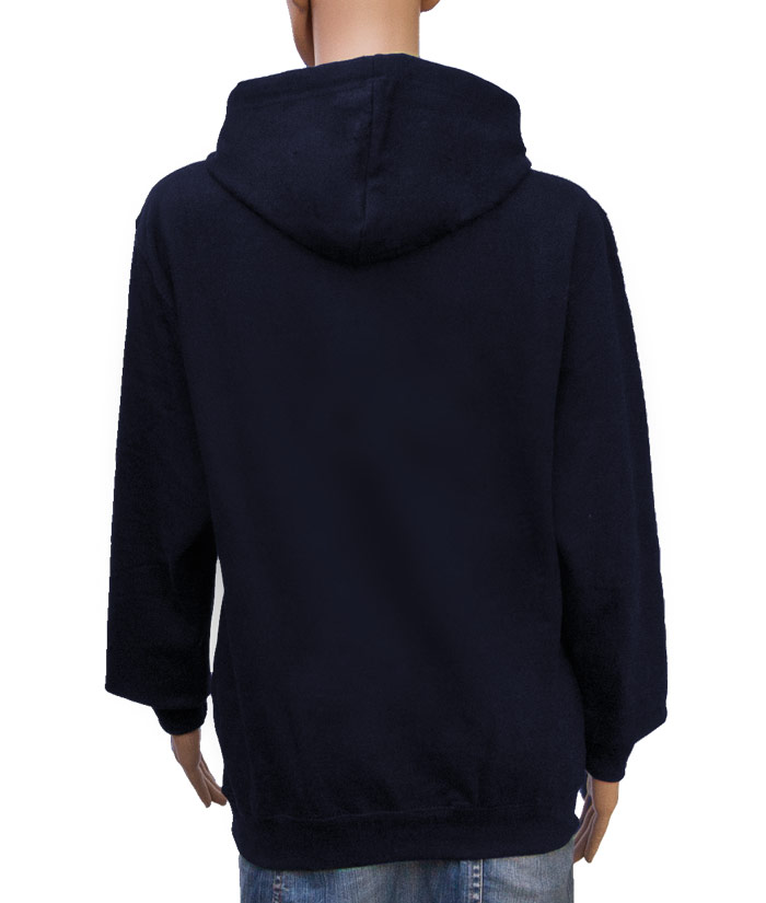 Hoodie Brand Navy | Back