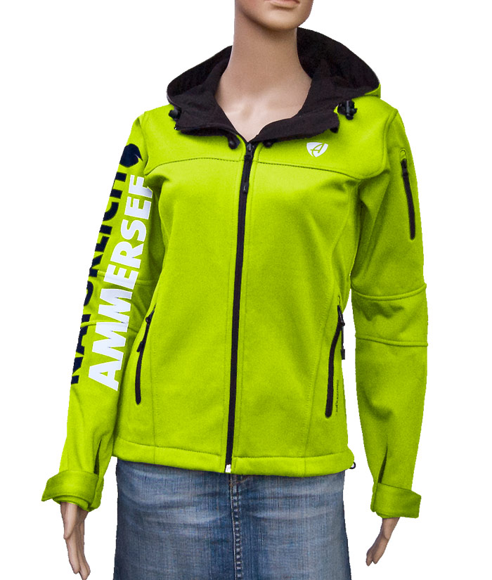 Damen Softshell Jacke Gentle Green | Front