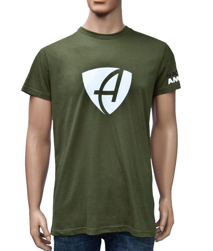 T-Shirt Brand Khaki | Front