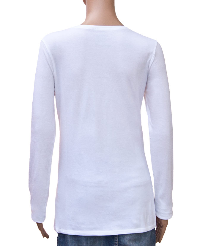 Longsleeve Gentle White | Back