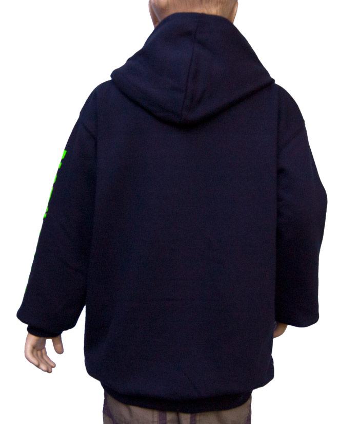 Kids Hoodie Brand Navy| Back