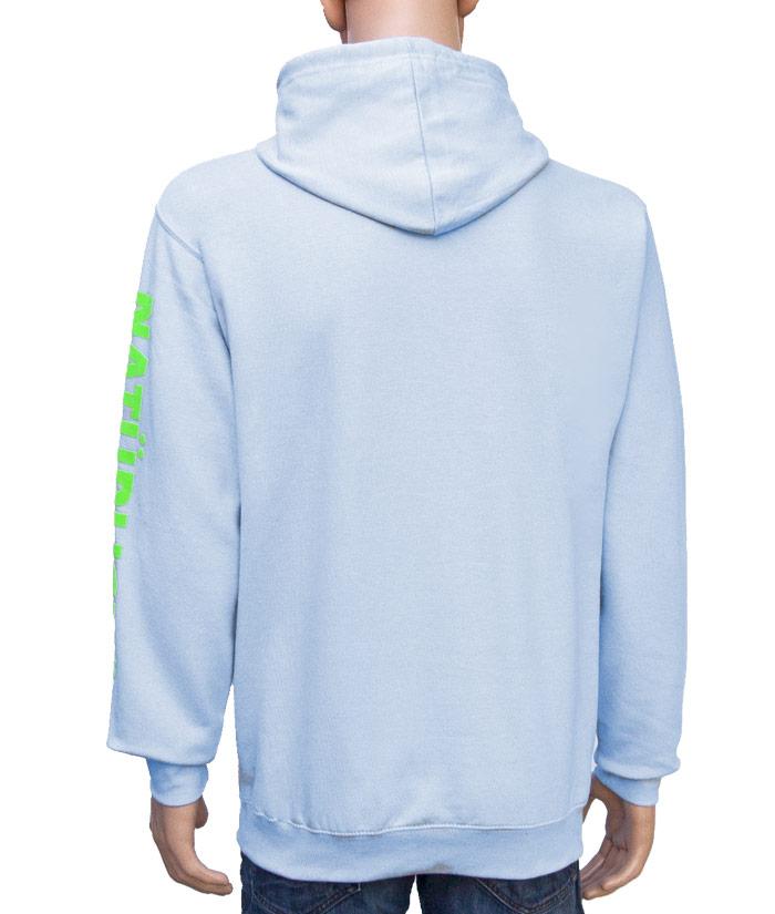 Hoodie Brand Iceblue | Back