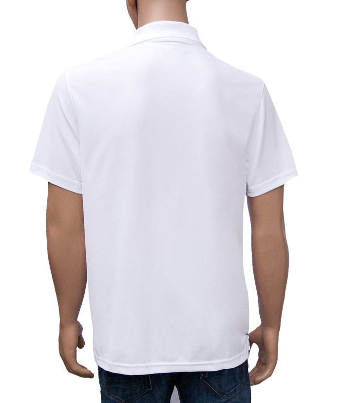 Polo-Shirt Gentle White | Back