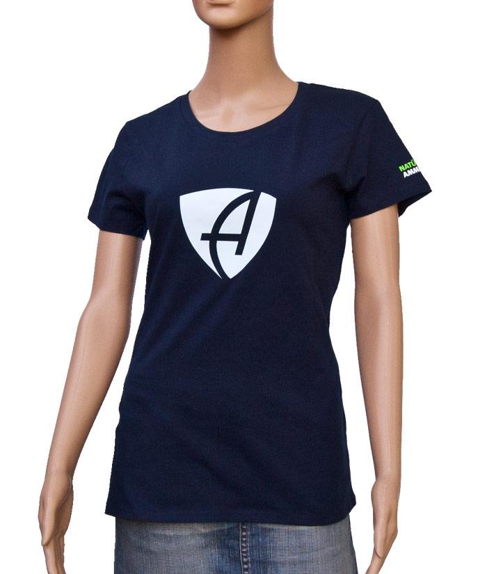 T-Shirt Brand Navy | Front