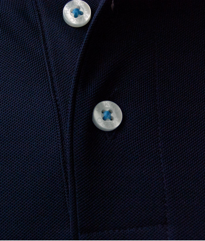 Polo-Shirt Gentle Navy | Detail