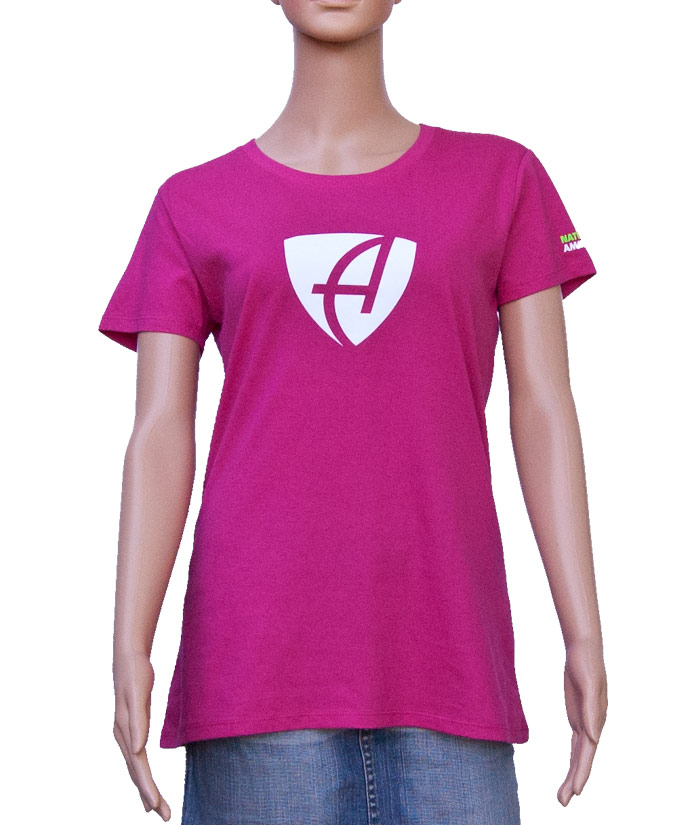 T-Shirt Brand Pink | Front