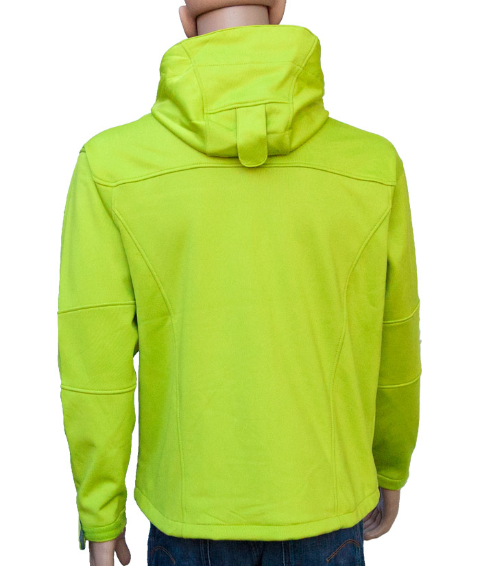 Herren Softshell Jacke Gentle Green  | Back