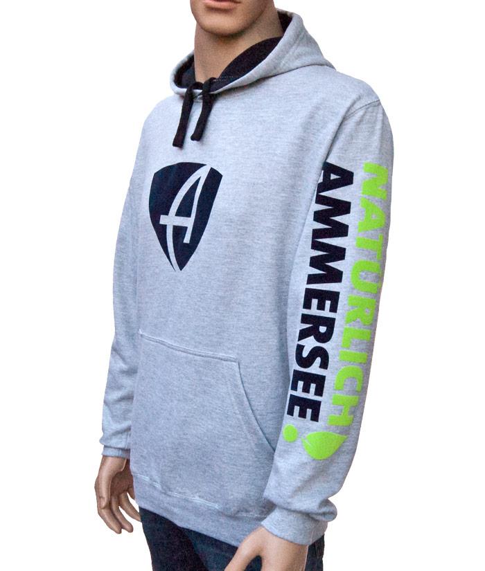 Hoodie Brand Grey | Side
