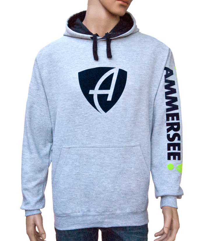 Hoodie Brand Grey | Front
