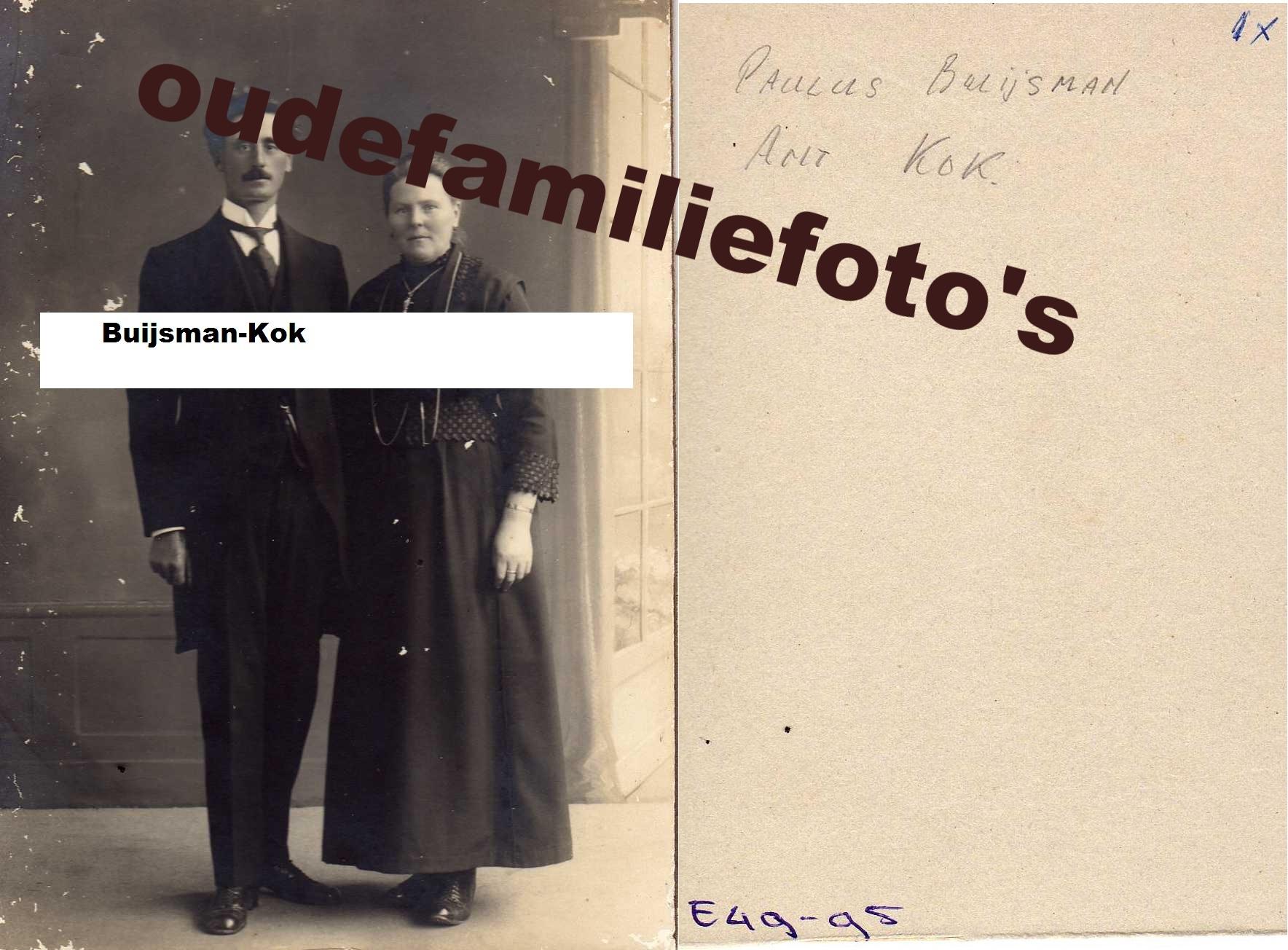 Kok, Antje getrouwd met Paulus Buijsman € 3,00
