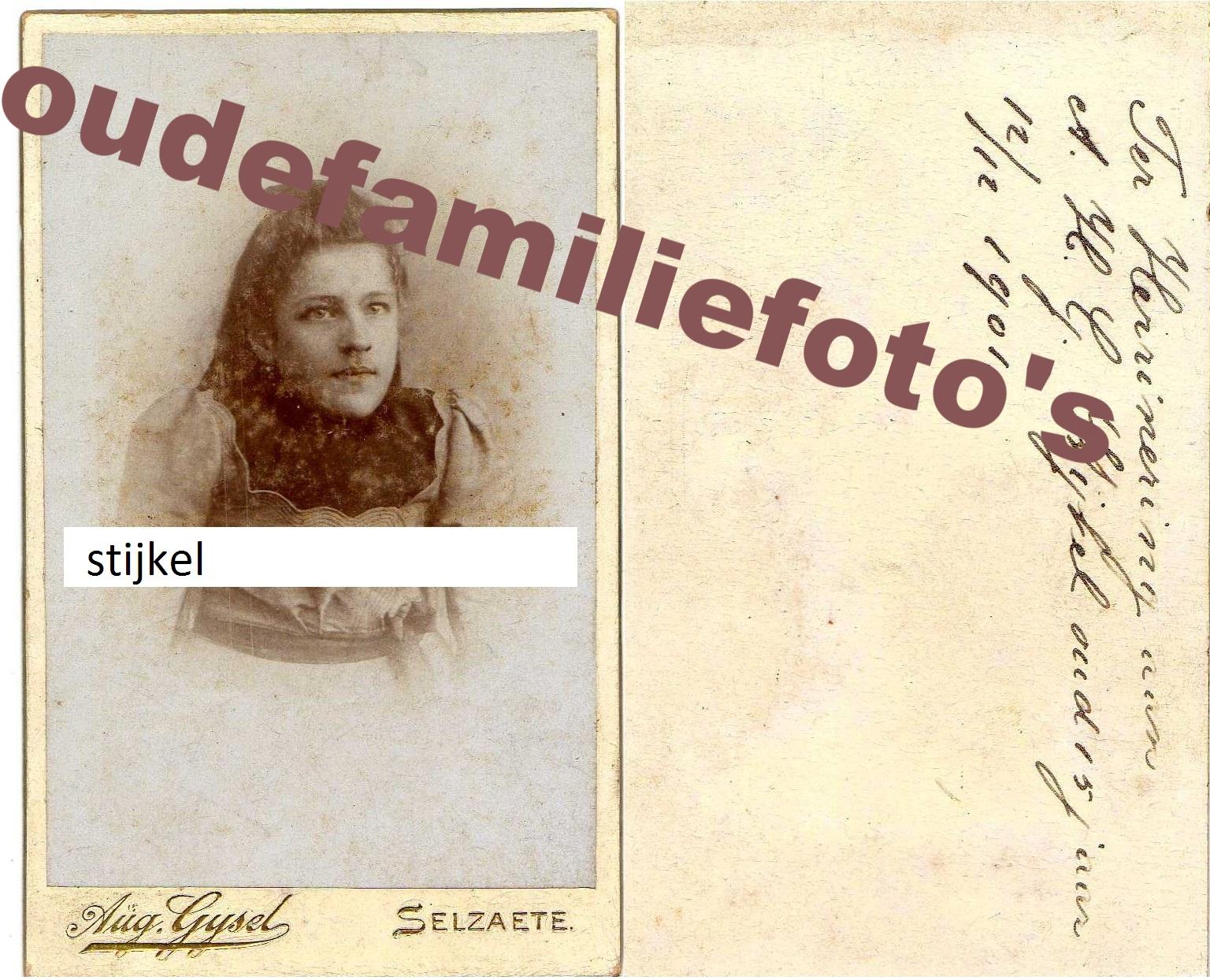 Stijkel, Achien Hermanna Goenier. geb: 11-6-1886 Borkum. ouders Hermannus en Tetje Bakker. € 2,50