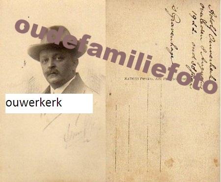 Ouwerkerk, Adolphus Mattheus Johannes. Getrouwd met Nicolina D'Abo op 23-12-1908 in Djokjakarta. € 3.00
