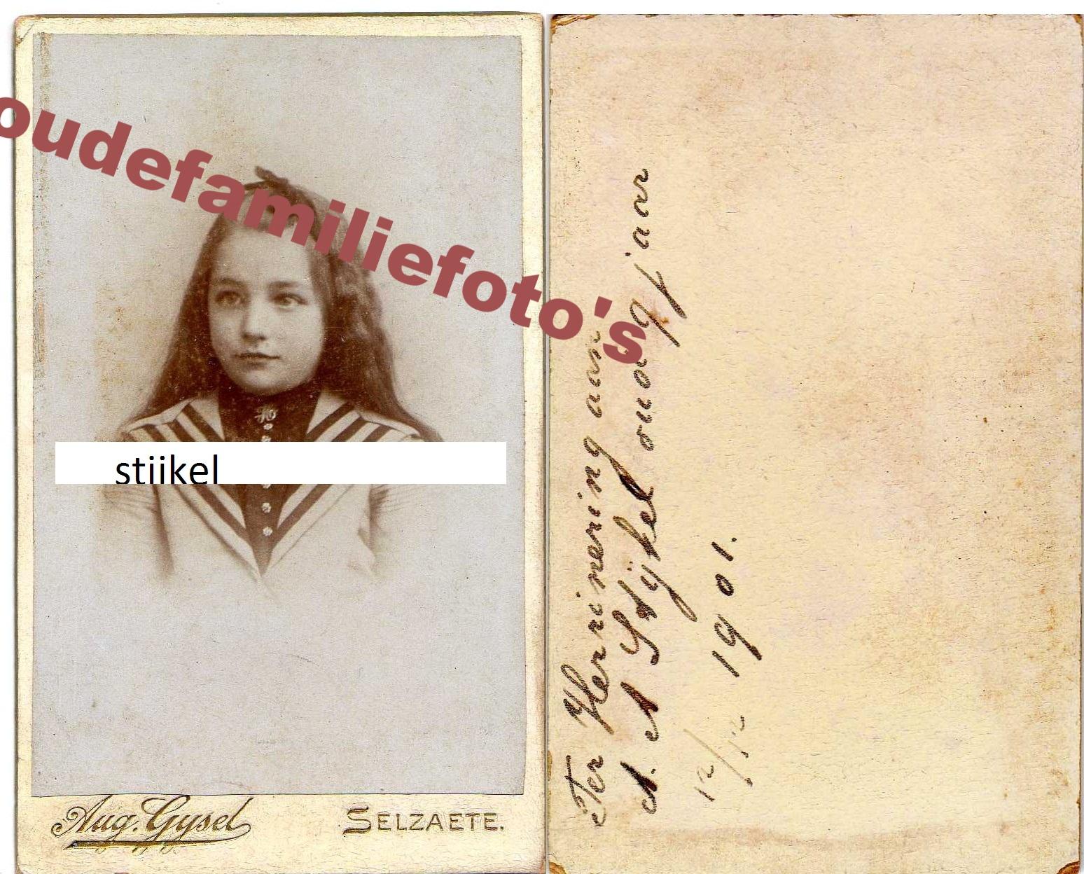 Stijkel, Arendina Anneta. geb: 7-11-1892 Rotterdam. ouders Hermannus en Tetje Bakker. € 2,50