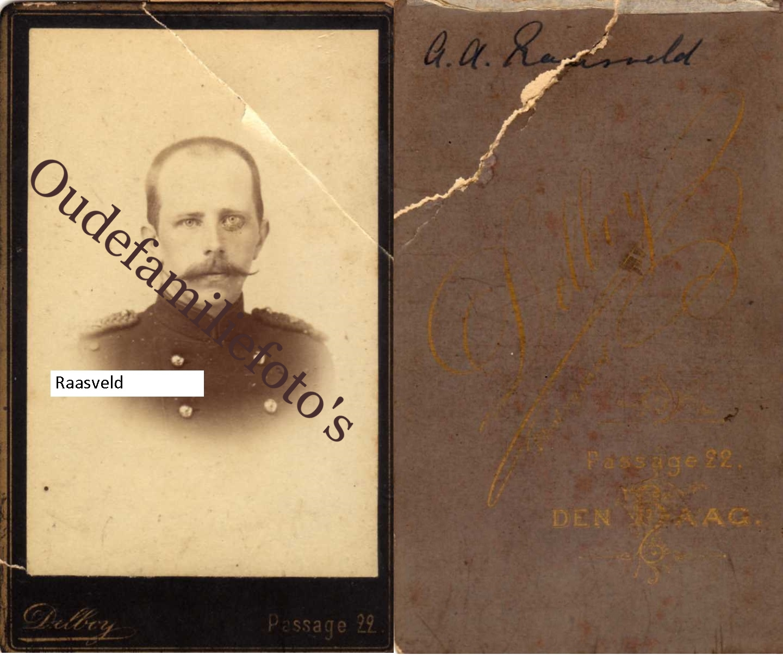 Raasveld(t) August Alexander Geb. 28-11-1863 Ovl. 27-7-1944 Valkenburg Houthem € 1,00