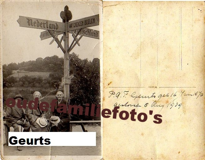 Geurts, Paul Antoon Frederik. Geboren 16-1-1870 Nijmegen € 3.00